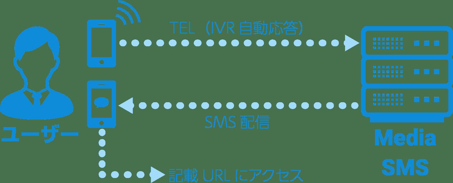 SMSリターンの図